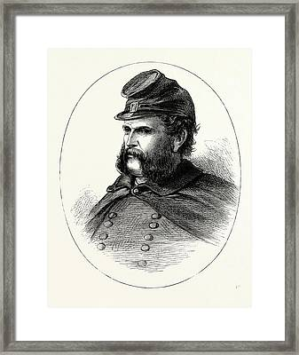 General Burnside, He Was An American Soldier Framed Print by English School