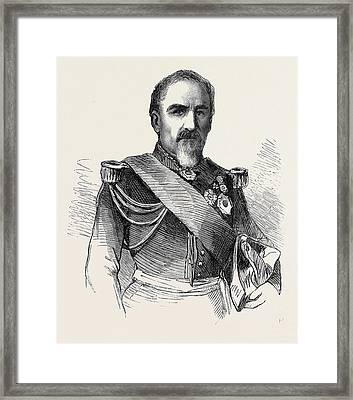 General Camou Commander Of The 2nd Division Of The Imperial Framed Print by English School