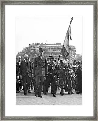 General Charles De Gaulle Framed Print by Underwood Archives