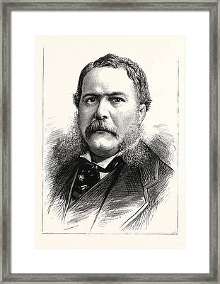 General Chester A. Arthur, Vice-president-elect Framed Print by American School