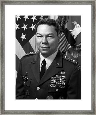 General Colin Powell Framed Print by War Is Hell Store