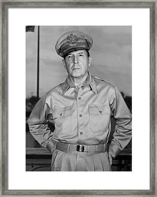 General Douglas Macarthur Framed Print by Andrew Lopez