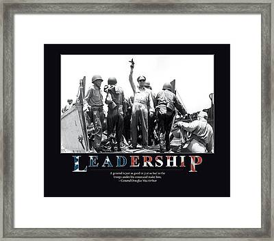 General Douglas Macarthur Leadership Framed Print by Retro Images Archive