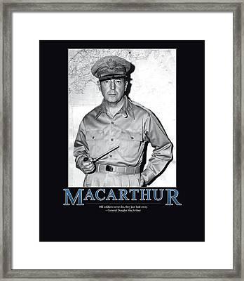 General Douglas Macarthur Framed Print
