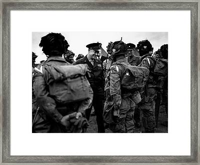 General Eisenhower Talks Framed Print
