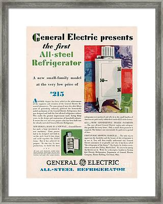General Electric  1929 1920s Framed Print by The Advertising Archives