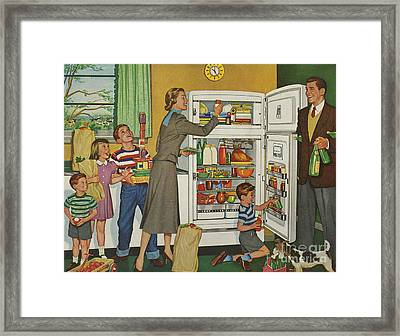 General Electric 1952 1950s Usa Fridges Framed Print by The Advertising Archives