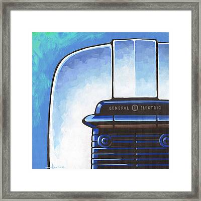 General Electric Toaster - Blue Framed Print