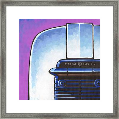 General Electric Toaster - Purple Framed Print by Larry Hunter