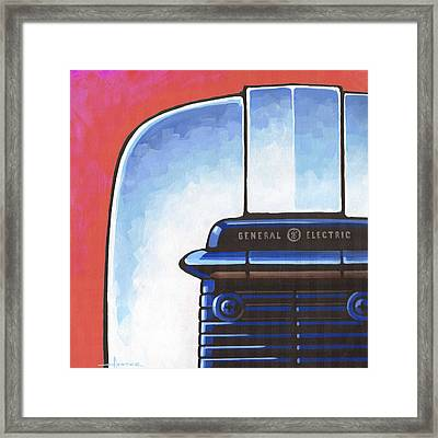 General Electric Toaster - Red Framed Print by Larry Hunter