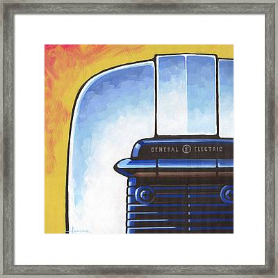General Electric Toaster - Yellow Framed Print by Larry Hunter