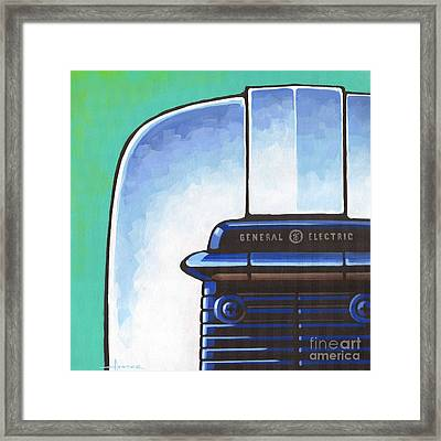 General Electric Toaster Framed Print by Larry Hunter
