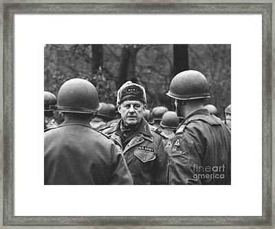 General Garrison H. Davidson On Maneuvers Framed Print by The Harrington Collection
