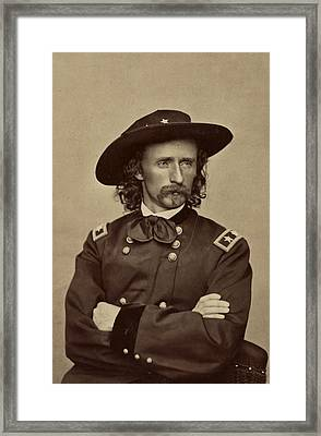 General George Armstrong Custer 1865 Framed Print by Mountain Dreams