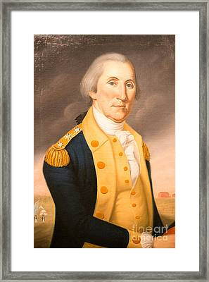General George Washington Ca 1790 Framed Print