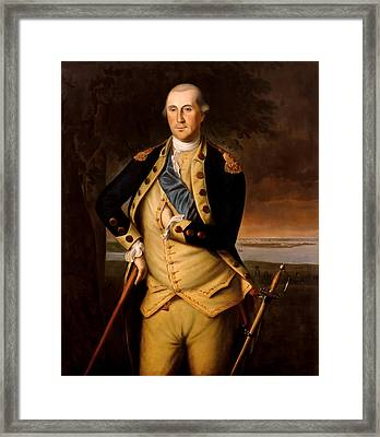 General George Washington  Framed Print by War Is Hell Store