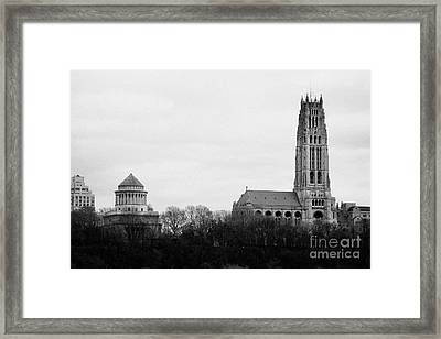 General Grant National Memorial And Riverside Church Riverside Park New York City Framed Print by Joe Fox