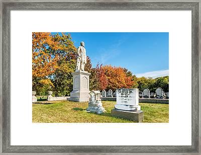 General Hiram G Berry Monument Framed Print by Tim Sullivan