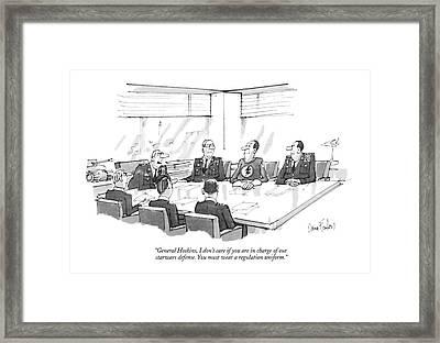 General Hoskins Framed Print by Dana Fradon