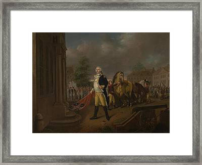 General Humphreys Delivering Framed Print by Nicolas Louis Albert Delerive