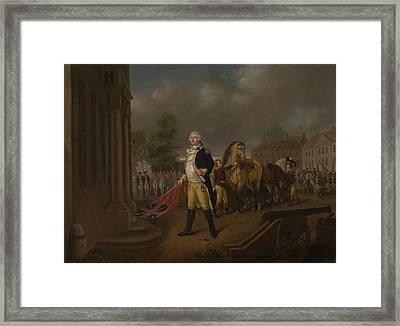 General Humphreys Delivering Framed Print by Nicolas Louis Albert Delerive