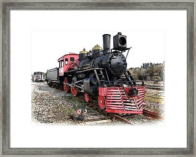 Framed Print featuring the photograph General II - Steam Locomotive by Ludwig Keck