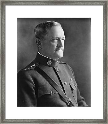 General John J Pershing 1920 Framed Print by Mountain Dreams