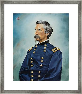 Framed Print featuring the painting General Joshua Chamberlain by Glenn Beasley