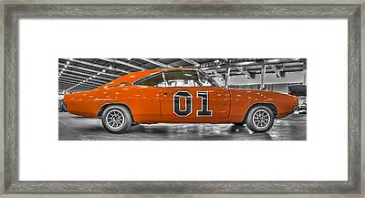 General Lee Dodge Charger Framed Print by John Straton