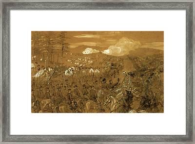 General Mcclellan Accompanied By General Burnside Taking Framed Print by Quint Lox