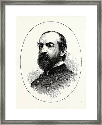 General Meade, He Was A Career United States Army Officer Framed Print by American School