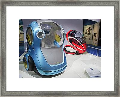 General Motors En-v Electric Cars Framed Print by Jim West