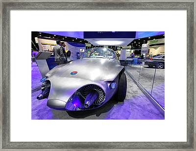 General Motors Firebird II Concept Car Framed Print by Jim West
