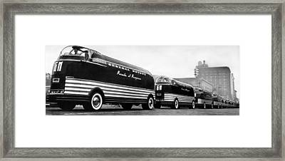 General Motors' Futurliners Framed Print by Underwood Archives
