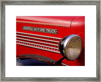 General Motors Truck Framed Print by Thomas Young