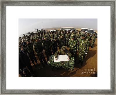 General Peter Pace Signs A Message Framed Print by Stocktrek Images