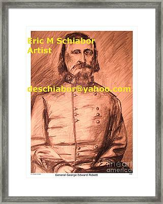 General Pickett Confederate  Framed Print by Eric  Schiabor