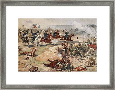 General Sheridans Final Charge Framed Print by Henry Alexander Ogden