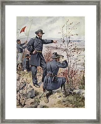 General Sherman At Kenesaw Mountain Framed Print by Henry Alexander Ogden