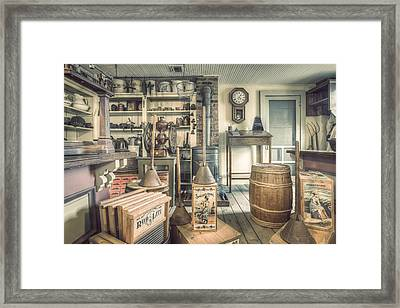 Framed Print featuring the photograph General Store - 19th Century Seaport Village by Gary Heller