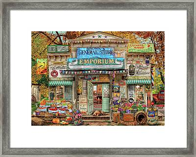 Framed Print featuring the drawing General Store by Aimee Stewart