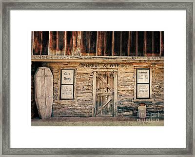 General Store Framed Print by Betty LaRue