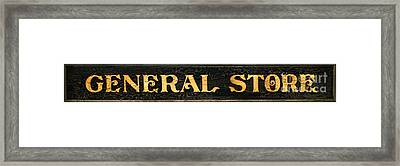 General Store Sign Framed Print by Olivier Le Queinec
