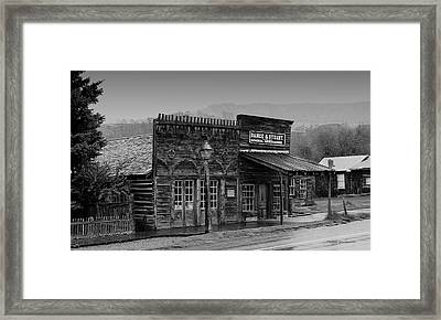 General Store Virginia City Montana Framed Print by Thomas Woolworth