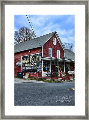 General Store With Tobacco Ad Framed Print by Paul Ward