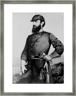 General Thomas Stonewall Jackson Framed Print by Mountain Dreams