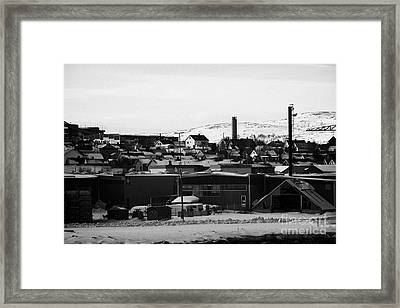 General View Across Kirkenes Finnmark Norway Europe Framed Print