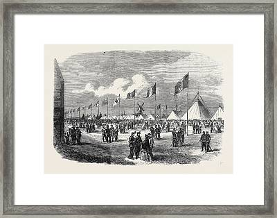 General View Of The Ground And Tents National Rifle Framed Print