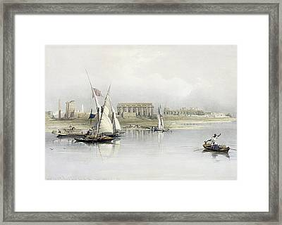 General View Of The Ruins Of Luxor From The Nile Framed Print