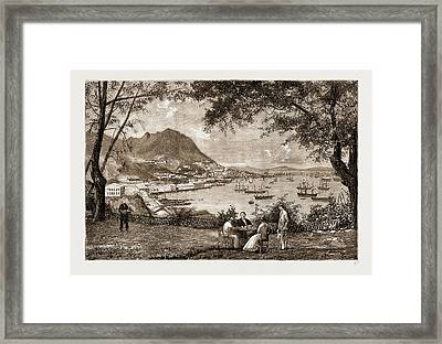 General View Of Victoria, Hong Kong Framed Print by Litz Collection